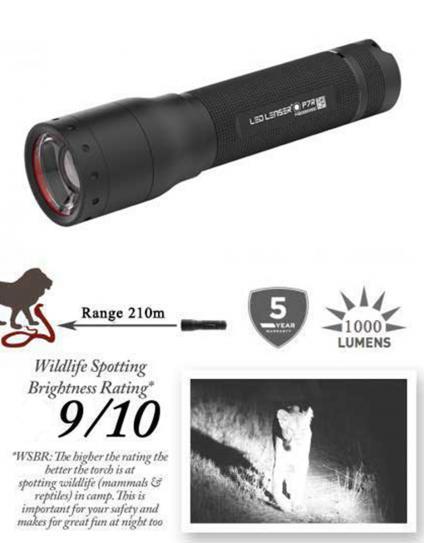 P7R Rechargeable Ledlenser Safari Torch