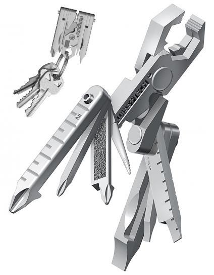 Swiss+Tech Micro Max XI 19-in-1 Key ring multi function tool