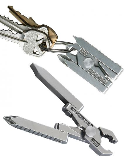 Swiss+Tech Micro Tech 6-in-1 Key Ring Multi-tool