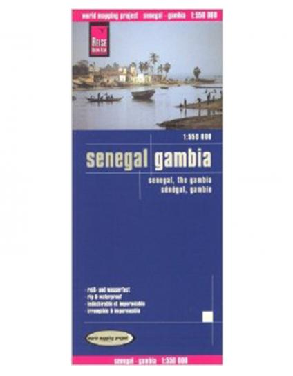 Reise Map of Senegal and The Gambia by Safari Store
