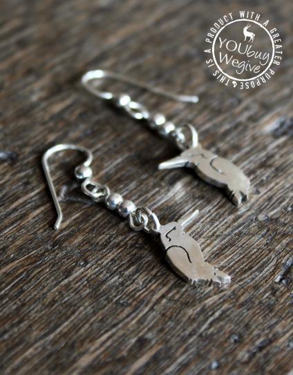 Mara&Meru™ Malachite Kingfisher Silver Earrings