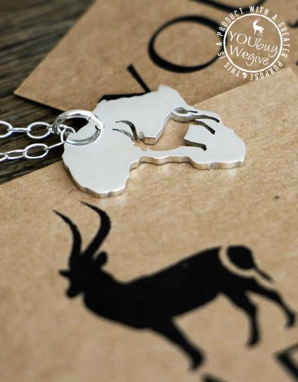 Mara&Meru™ Waterbuck Silver Necklace