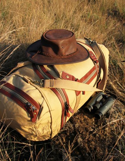 Explorer Canvas & Leather Safari Duffle Bag