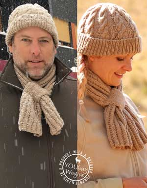 Men's and women's knitted scarf for farmers