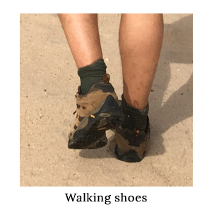 You need to take comfortable shoes on a walking safari. The Merrell Moab Ventilators with 1000Mile Blister-Free Socks for men