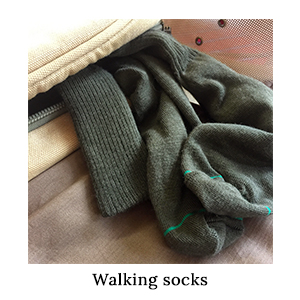 Pack 1000Mile Blister-Free Safari Socks in a neutral safari-friendly colour for a walking safari to Africa