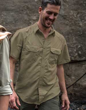 BUGTech Anti-Insect Men's Short Sleeved Farm Shirt