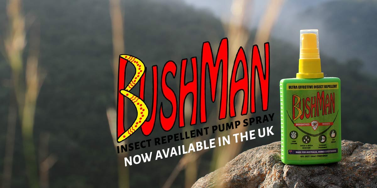 Bushman insect repellent pump spray is now available in the United Kingdom