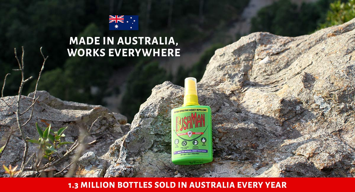 Bushman insect repellent is made in Australia and is great for any outdoor and travel activities anywhere in the world