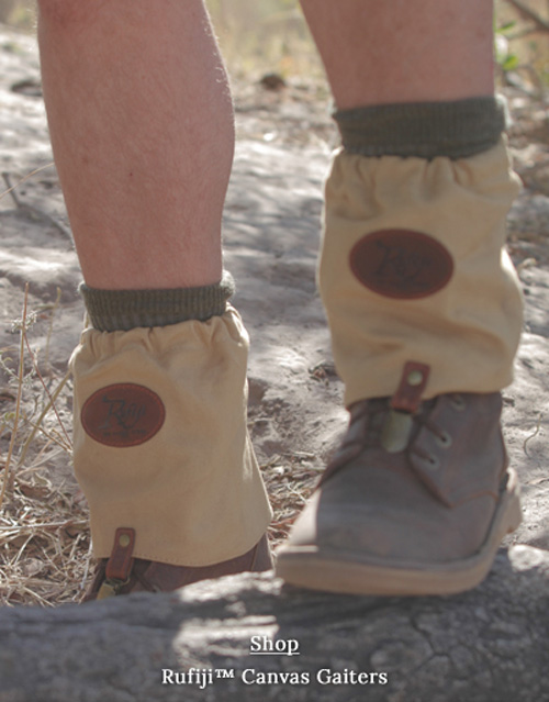 Safari Gaitors for ankle & sock protection