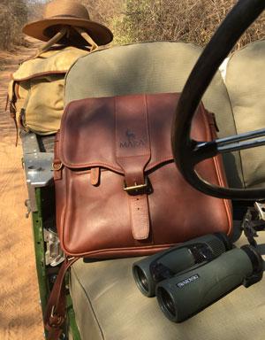 Mara&Meru 3-in-1 Leather Satchel Pannier Bag for Farmers' Binoculars