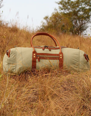 Rufiji Explorer II Canvas and Leather Duffel Bag for Farmers
