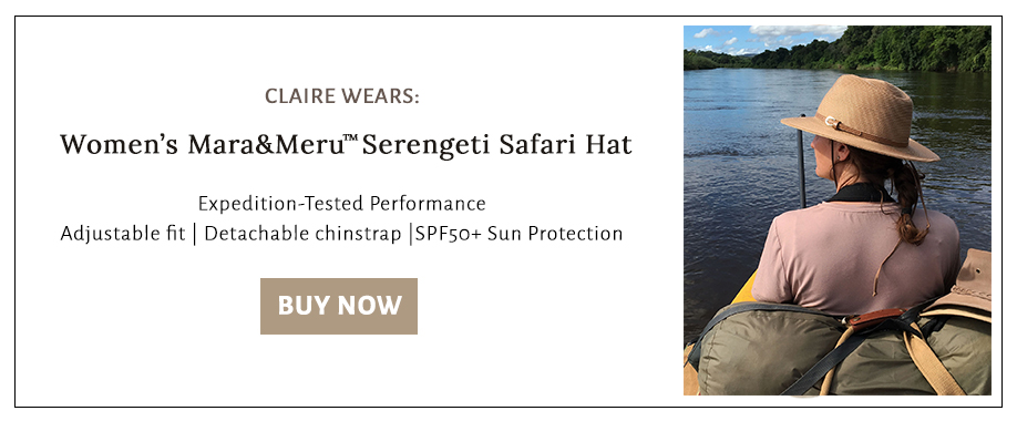 Shop for the hat that Claire wore on her Kafue River Recce