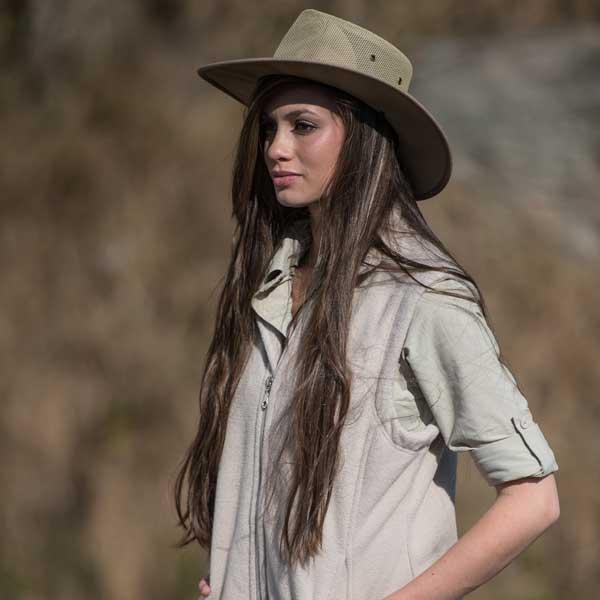 Woman wearing stylish farm clothes