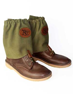 Rufiji Suede Ankle Gaiters for Insect Protection for Farmers