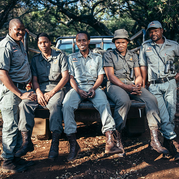 Anti-poaching patrol wearing donated boots
