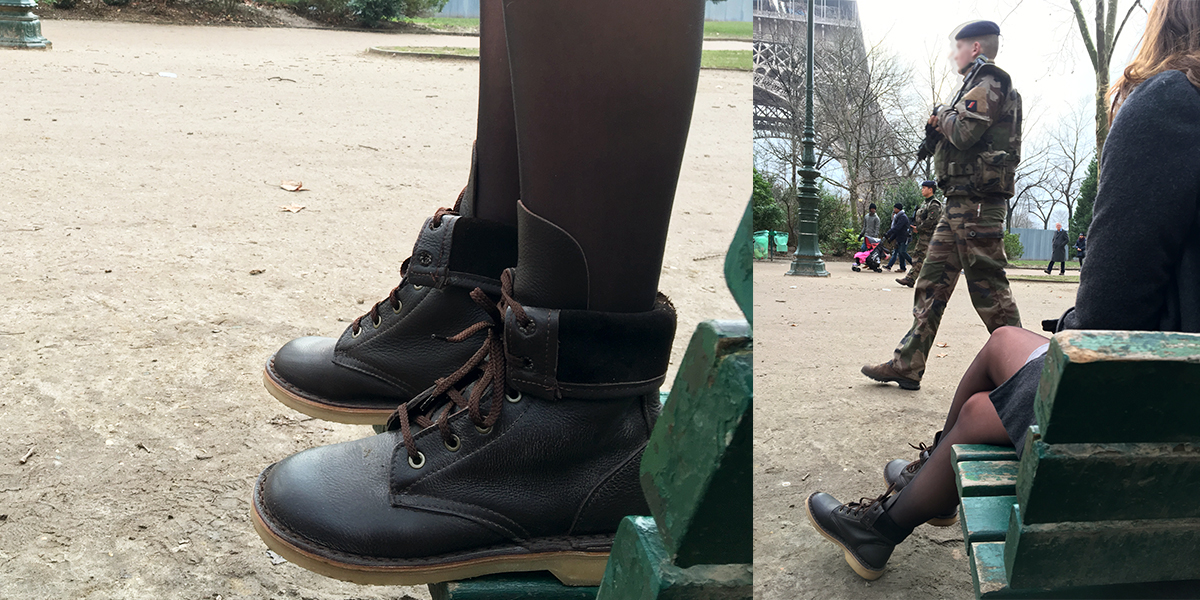 The Rufiji APU Boots in Paris