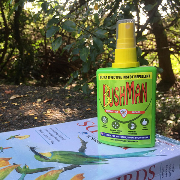 Bushman insect repellent and the Sasol Bird Book