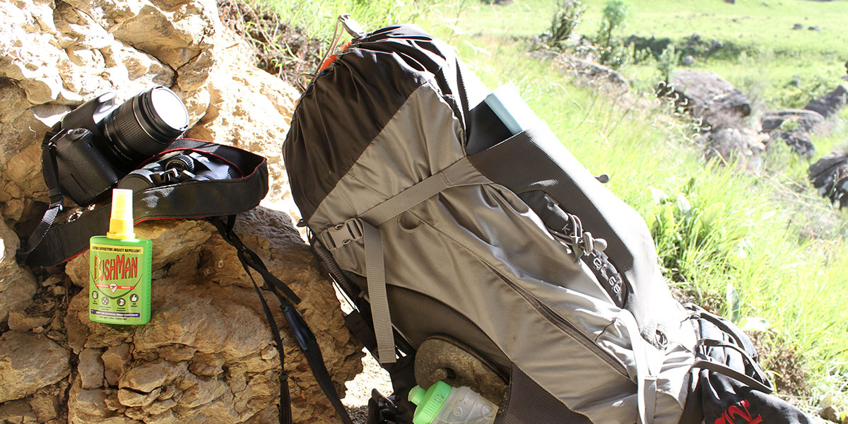 Bushman Insect Repellent is ideal for hiking.