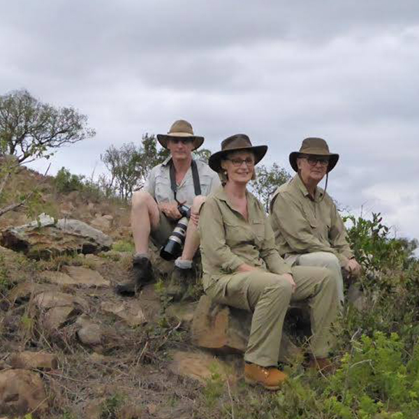 Dr & Mrs Whitehead on safari in Hluhluwe-iMfolozi