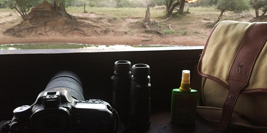 Africa travel tip: Pack a pair of binoculars, camera and insect repellent for visiting a bird hide