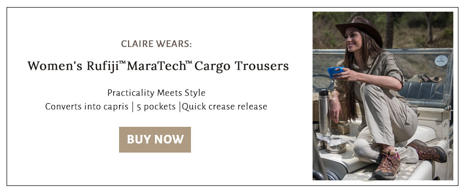 Shop for the cargo trousers that Claire wears on safari