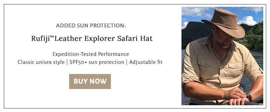 Buy a wide-brimmed hat to get the ultimate sun protection.