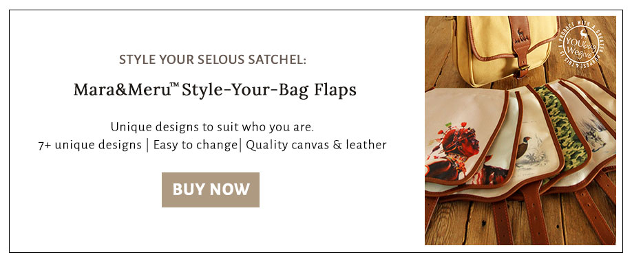 Shop a variety of designs for the front flap of the Selous satchel.