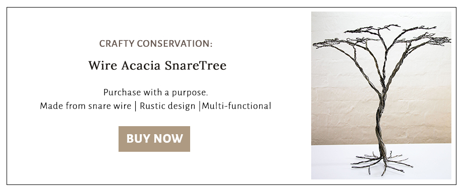 Buy a tree made in Africa from confiscated snare wire.