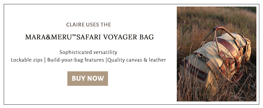 Shop for the leather and canvas safari bag used on Claire's expeditions