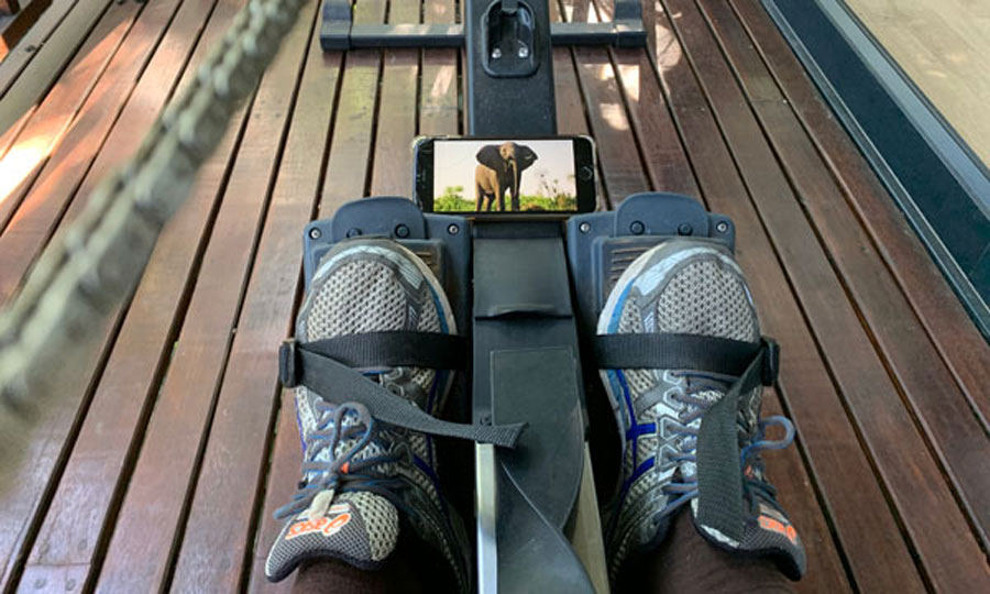 Okavango River of Dreams film watched while on Concept2 rower