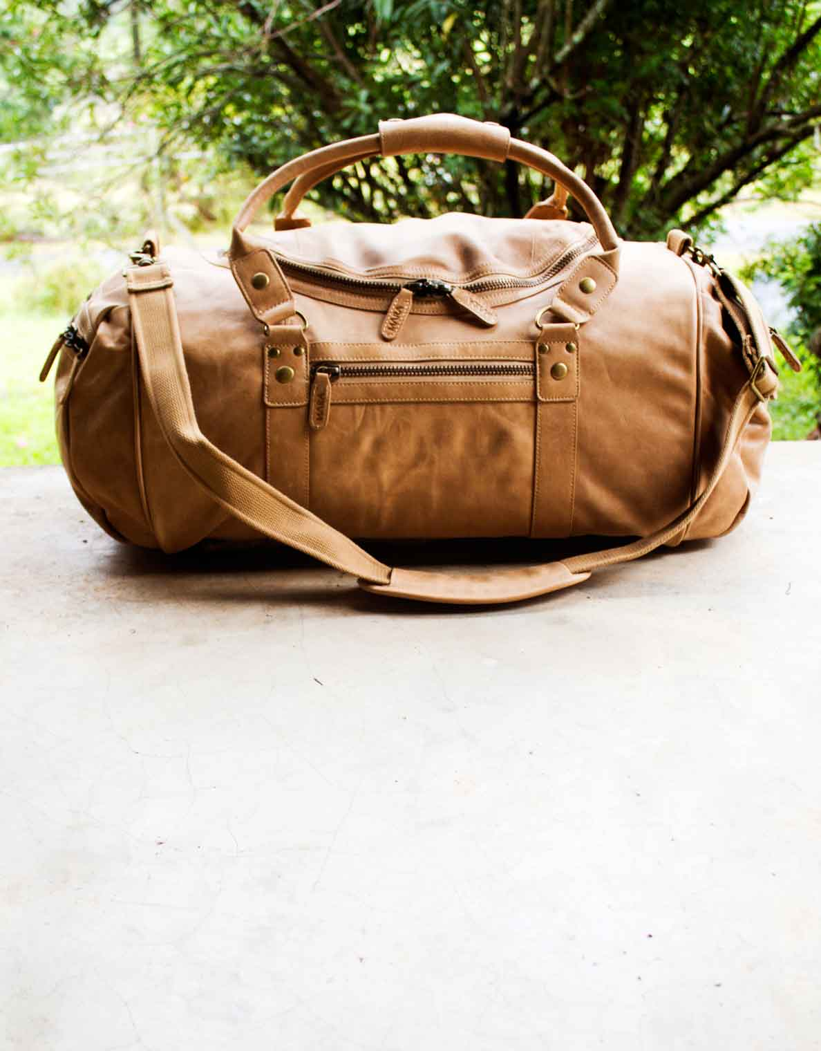 Quintessential Leather Duffel Bag Protector by The Safari Store