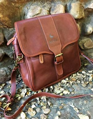 Pannier bag satchel in leather