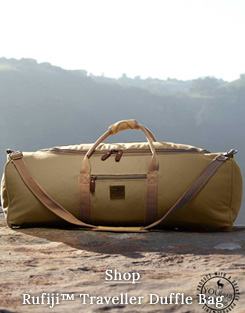 Large soft-sided canvas safari duffle bag for safaris