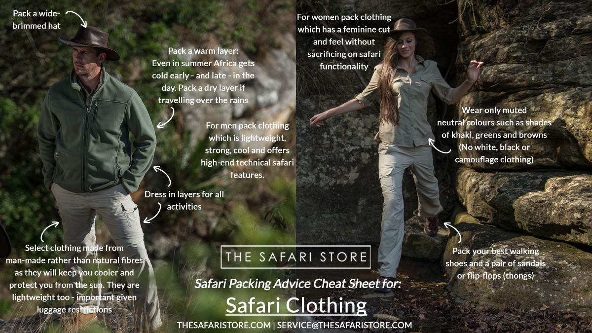 Safari Packing List - What safari clothing to pack for your safari