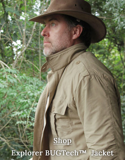 Safari jacket for men: anti-insect & fleece lined