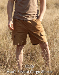 Safari Shorts for Men with stretch in Savute range
