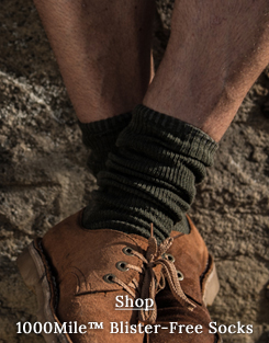 Safari socks for Men by 1000Mile: blister-free