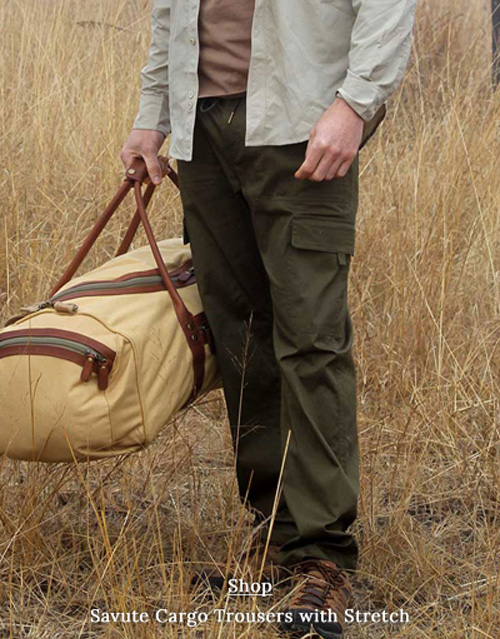 Safari Trousers for Men with stretch in Savute range