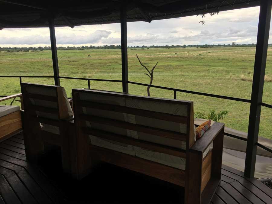 Jackalberry Camp - View from the tower, Nkasa Rupara, Namibia