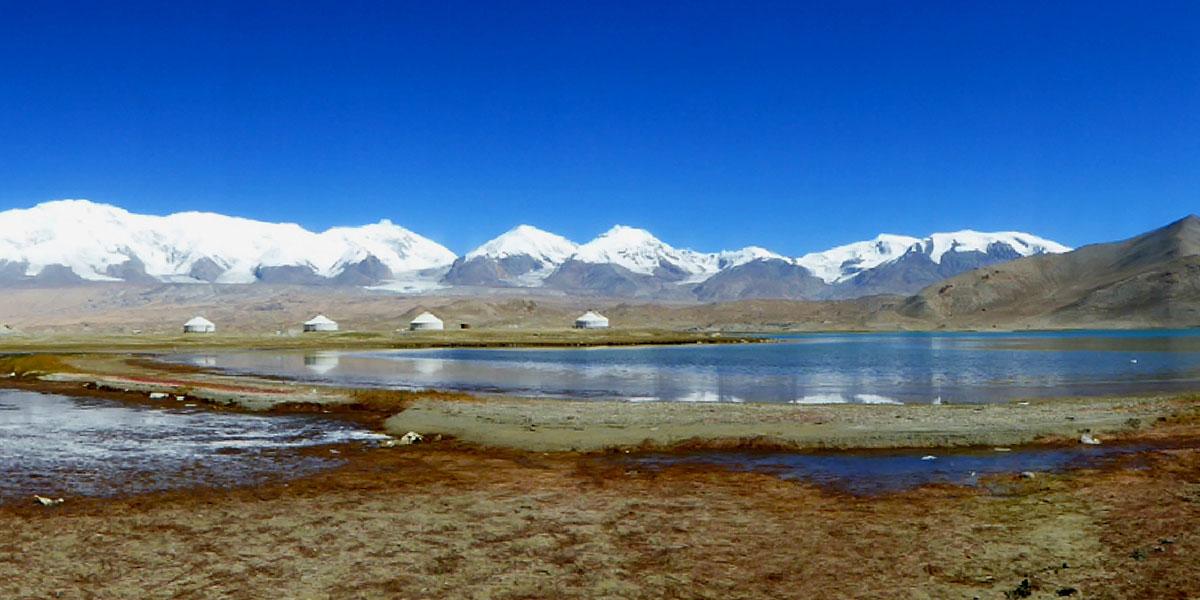 The Karakoram mountains in Asia