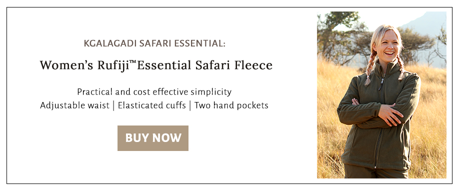 Shop for the fleece that our team recommends for the cold Kgalagadi nights