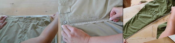 How to measure waist/front rise/inside legk