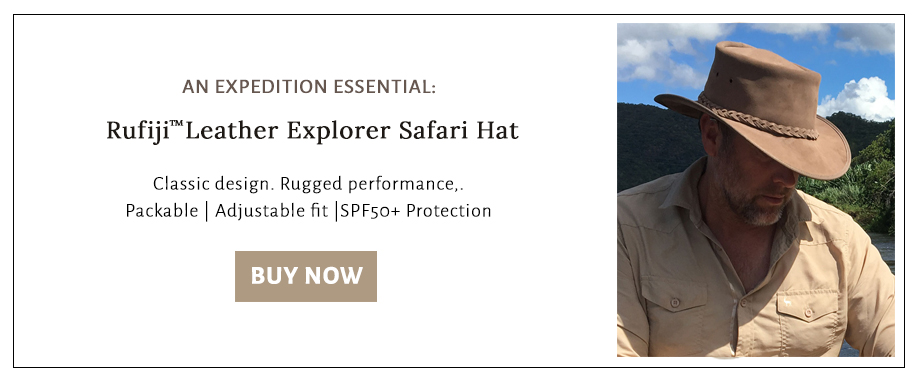 Shop for a leather safari hat to protect your face and neck from the sun