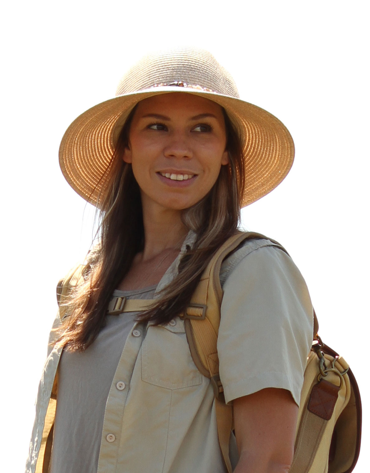 Women's indie-style safari hat in natural colour. Get safari hat sun protection for travel, outdoor, & safari